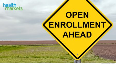 Open Enrollment Ahead Yield Sign; open enrollment dates